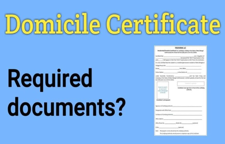 Easy Step by Step Guide to Get a Domicile Certificate in India
